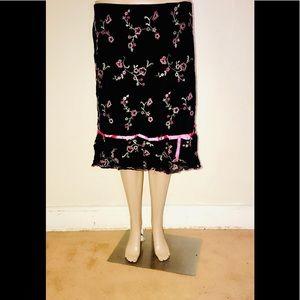 Fashion Bug  black and pink pattern skirt